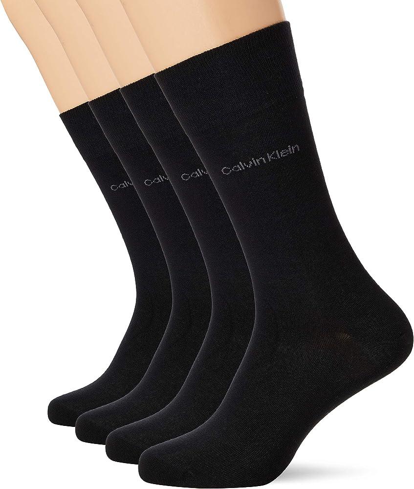Calvin klein, calze per uomo,100 % cotone 100001752