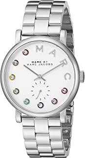 Marc by Marc Jacobs Women's White Dial Stainless Steel Plated Band Watch - MBM3420