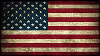 USA Flag Sticker Rustic Bumper Sticker Car Decal Gift Patriotic American Worn United States (3x5)