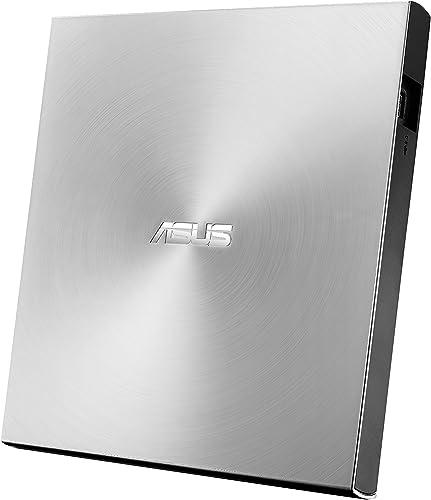 ASUS ZenDrive U9M Argent (SDRW-08U9M-U) – Lecteur Graveur CD / DVD x8 ultra-compact, M-Disc supporté, compatible avec...