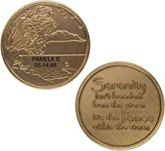 HPRS Personalized Custom Engraved 2 Lines - Serenity & Peace - Bronze AA (Alcoholics Anonymous)-ACA-AL-ANON-Sober-Sobriety-Birthday-Anniversary-Recovery-Medallion-Challenge