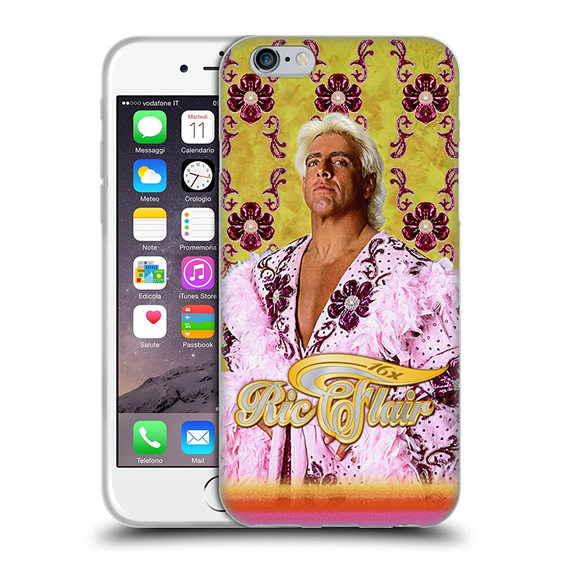 Official WWE Pink Robe RIC Flair Soft Gel Case for iPhone 6 / iPhone 6s