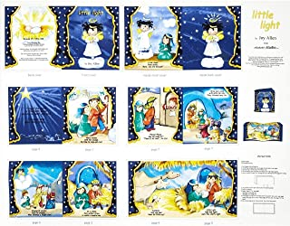 Little Light Christmas Nativity Story Fabric Book Panel