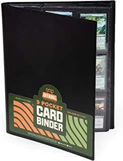 9 Pocket Trading Card Binder | Black | 20 Double-Sided Pages | 360 Side-Loading Card Protector Storage Pockets Compatible ...