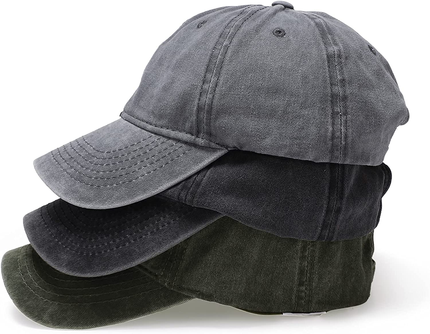 Product Owmido Solid Super popular specialty store Color Baseball Cap and Women's Washed Retro Men's