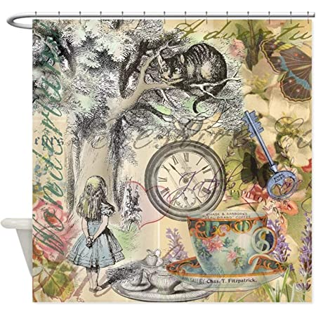 Rrfwq Magic Alice in Wonderland The Cheshire Cat Shower Curtain 60 by 72X72IN