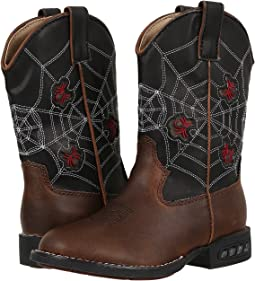 Roper Kids Spider Lighted Cowboy Boots (Toddler/Little Kid)