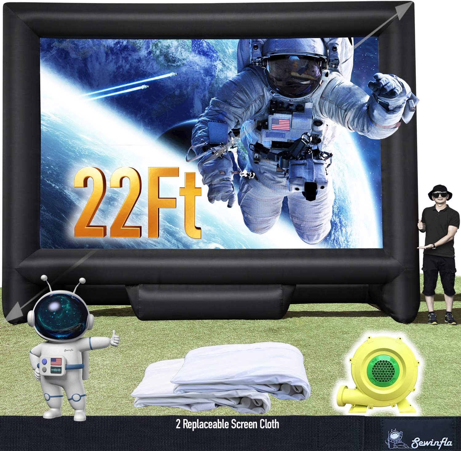 Sewinfla 22Ft Sales results Max 85% OFF No. 1 Outdoor and Indoor Projector Scre Movie Inflatable