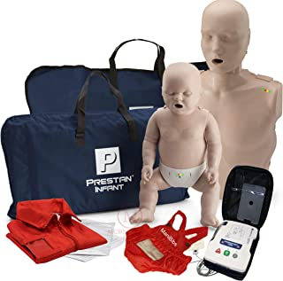 Adult and Infant CPR Manikin Kit with Feedback, Prestan UltraTrainer, and MCR Accessories