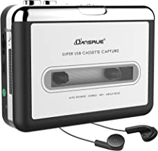 2019 Updated Cassette to MP3 Converter USB Cassette Player from Tapes to MP3 or Digital Files for Laptop PC and Mac from Tapes to Mp3 New Technology Headphones,Silver