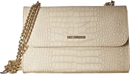 LOVE Moschino Croco Pu Shoulder Bag