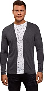 oodji Ultra Men's Button-Down Cotton Cardigan