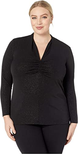 137d40cddeda Vince camuto specialty size plus size long sleeve asymmetrical cold ...