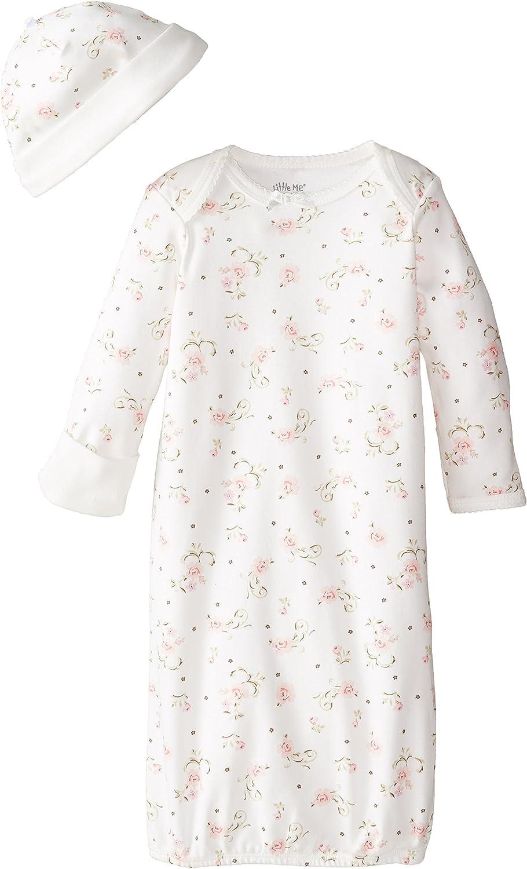Little Me Girls' 2-Piece Gown & Hat Set
