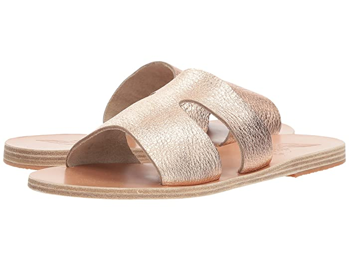 Ancient Greek Sandals  Apteros (Pink Metal/Sand Metallic Crosta) Womens Sandals