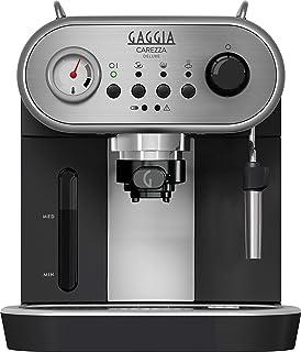 comprar comparacion Gaggia Carezza Deluxe - Cafetera (Independiente, Acero inoxidable, De café molido, Vaina, Café expreso, Leche caliente, Ag...