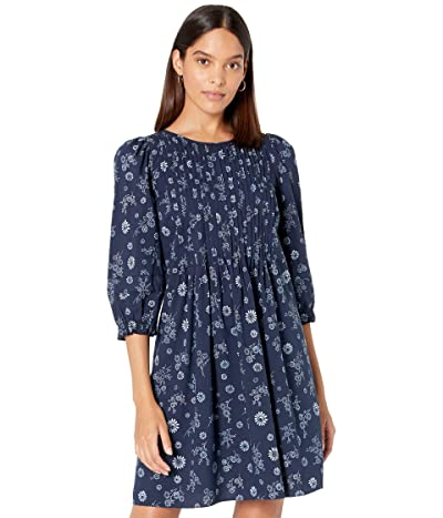 Madewell Pin Tuck Puff Sleeve Mini Dress in Cottage Floral