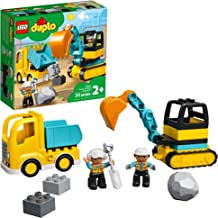 LEGO DUPLO Construction Truck & Tracked Excavator 10931 Building Site Toy for Kids Aged 2 and Up; Digger Toy and Tipper Tr...