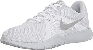 Nike Women's Flex Trainer 8 Cross, White/Metallic Silver - Pure Platinum, 8.5 Regular US