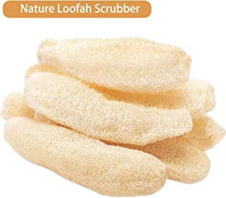 Whole Natural Loofah 8.7-13.8/6.3-7.9 Inches Exfoliating Biodegradable Loofah Sponges Cellulose Dish Scouring Scrubber (6 Pieces, 8.7-13.8 Inch)