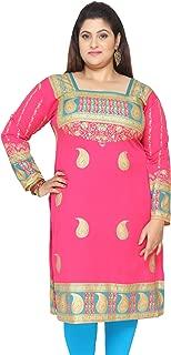 Women's Plus Size Dress Indian Tunics Kurti Long Top