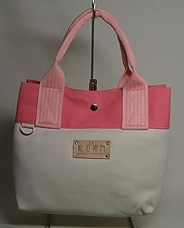 工楽松右衛門帆布 折り返し8cmトートバッグ(生成り×ピンク×持ち手:淡いピンク)金具付き