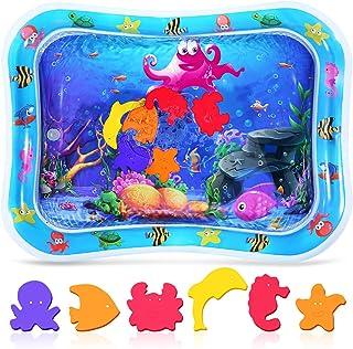 Crislove Tummy Time vattenmatta för spädbarn, uppblåsbar lekmatta perfekta sensoriska leksaker för baby 3, 6, 9 månader ny...