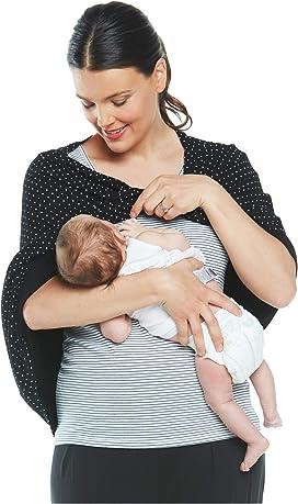 Cake Maternity Womens Nursing Poncho Small Nuring Tunic Navy Print