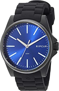 Rip Curl Men's Quartz Sport Watch with Silicone Strap, Black, 22.1 (Model: A3120BLU1SZ)