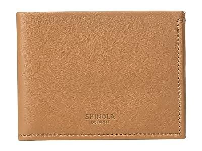 Shinola Detroit Slim Bifold (Cognac) Wallet Handbags