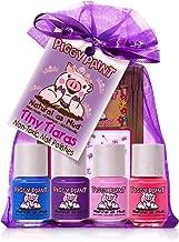 Piggy Paint - 100% Non-toxic Girls Nail Polish, Safe, Chemical Free, Low Odor for Kids - 4 Polish Gift Set - Tiny Tiaras
