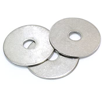 AISI 304 Stainless Steel Flat Washers 1//2 18-8 40 pcs Fender Washers