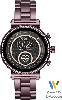 Access Womens Sofie HR Touchscreen Stainless Steel Smartwatch, Plum-MKT5074
