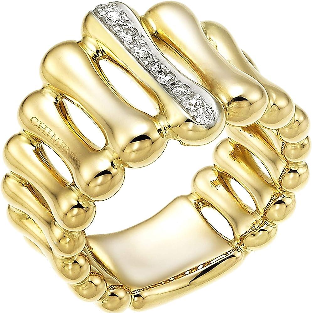 Chimento,anello a fascia da donna ,in oro 18k(7,5 gr),e diamanti naturali ct. 0.13 1a05894b12140