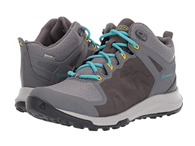 Keen Explore Mid Waterproof (Steel Grey/Bright Turquoise) Women