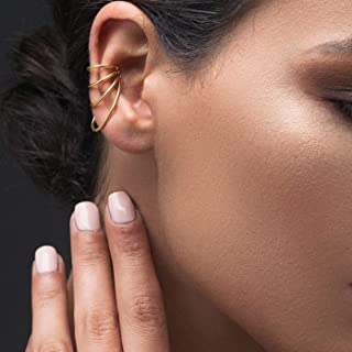 Sin piercing oreja puño no perforado oreja brazalete no piercing earcuff rosa de oro puño de oreja, pendiente de liga, pendiente de plata esterlina oreja puño por Emmanuela