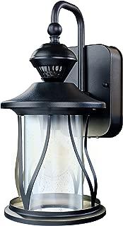 Heath Zenith HZ-4010-BK 150° Motion Sensing Decorative Security Light with DualBrite Technology, Black