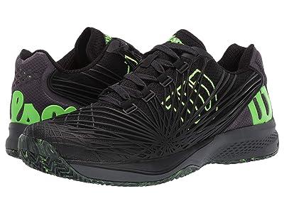 Wilson Kaos 2.0 (Black/Ebony/Green Gecko) Men