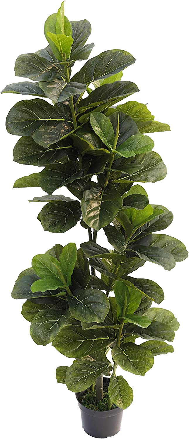 5-Feet Artificial Sale SALE% OFF Fiddle Leaf Fig Tree Ho Mesa Mall Green Plants for Fake