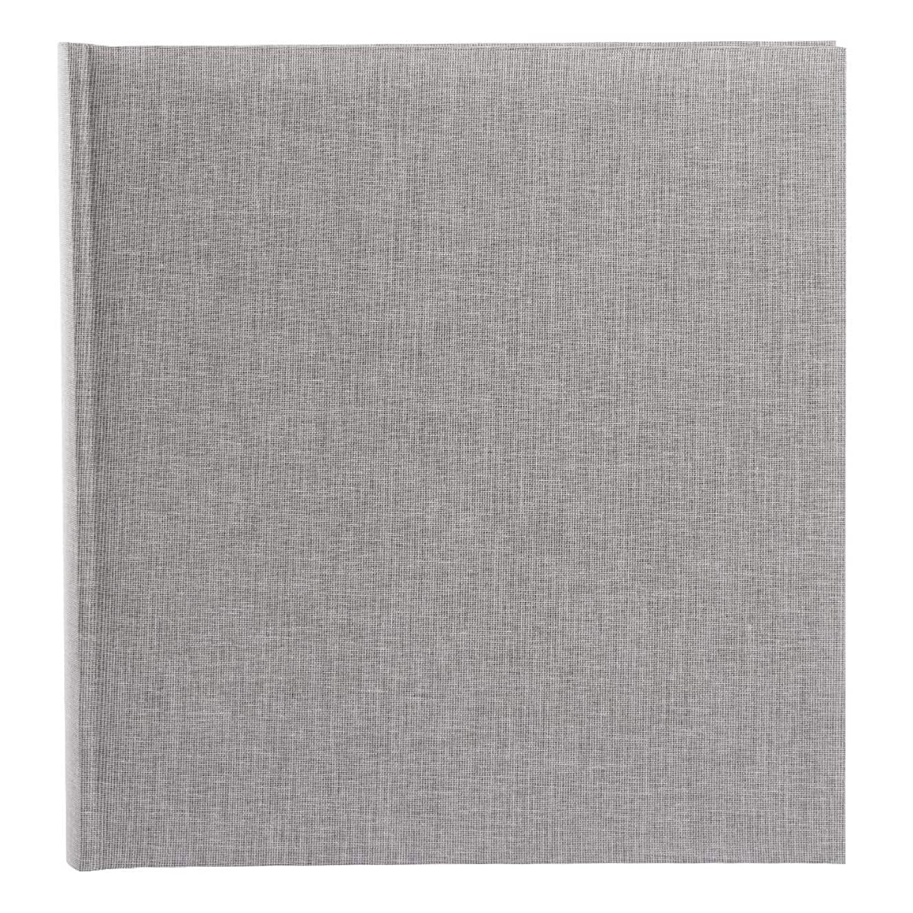 Goldbuch Photo Album Summertime Trend 2?Grey Linen, 30?x 31?cm with 100?White Pages with Pergamine Dividers, 31606