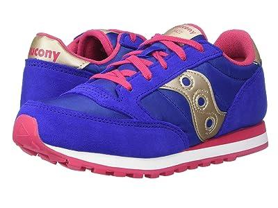 Saucony Kids Originals Jazz Original (Little Kid/Big Kid) (Blue/Gold) Girls Shoes