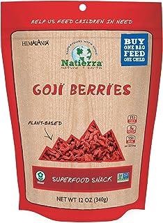 NATIERRA Himalania Goji Berries | Non-GMO & Vegan | 12 Ounce