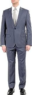 Hugo Boss Adris4//Heilon Mens 100/% Wool Gray Two Button Suit US 42S IT 52S