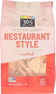 365 Everyday Value, White Corn Tortilla Chips, Restaurant Style, Unsalted, 14 oz