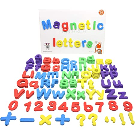 ButterflyEduFields 4in1 Fun Alphabet Words with 50 Pictures, 144 Letter Magnets (Capital & Small), Magnetic Board & Spelling Guide | 5 color Soft Foam Learning Educational Toys for Kids 3 4+ years old Boys Girls