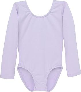 Dancina Leotard 长袖芭蕾舞服前内衬舒适棉质儿童 2-10 岁