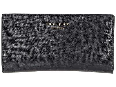 Kate Spade New York Spencer Slim Bifold Wallet (Black) Handbags