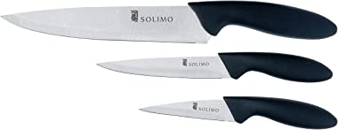Amazon Brand - Solimo Classic Stainless Steel 3-Piece Knife Set