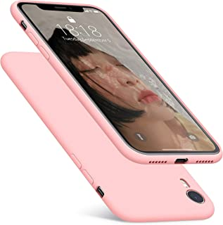 DTTO Case for iPhone XR, [Romance Series] Silicone Case with Hybrid Protection for Apple iPhone XR 6.1 Inch - Crystal Pink