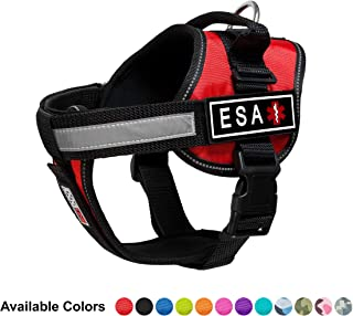 Dogline Unimax Emotional Support Dog Harness Vest with 3D Rubber ESA Patches Adjustable Straps, Comfy Fit, Breathable Neoprene for Medical, Service, Identification & Training Dogs
